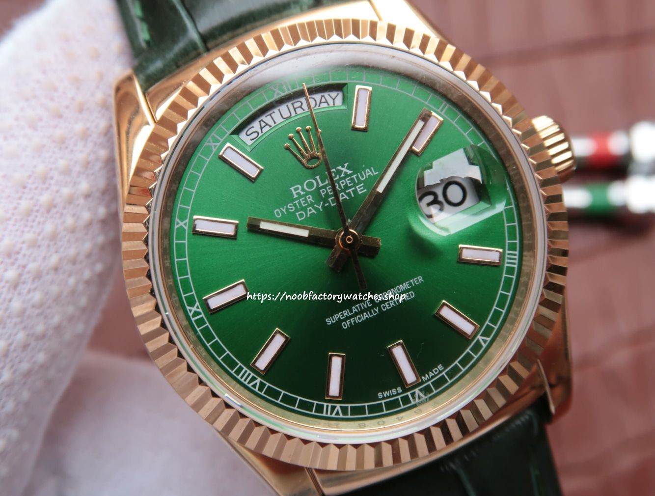 bf96cfe9e39 Rolex Rolex Oyster Perpetual Day-Date Watch 118138 - The N Factory