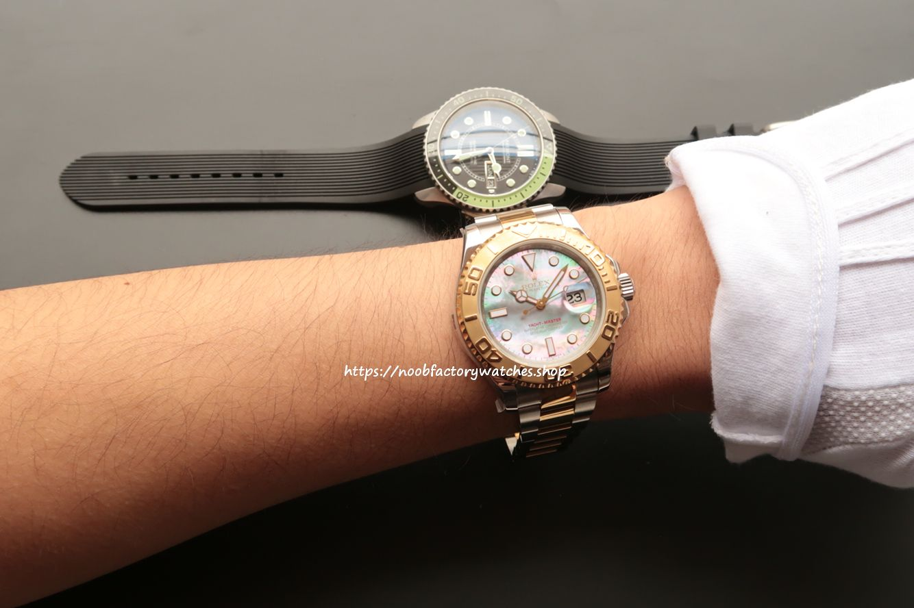 7d2fb67b9964 Noob ROLEX YACHT-MASTER 116621 TWO TONE EVEROSE - The N Factory