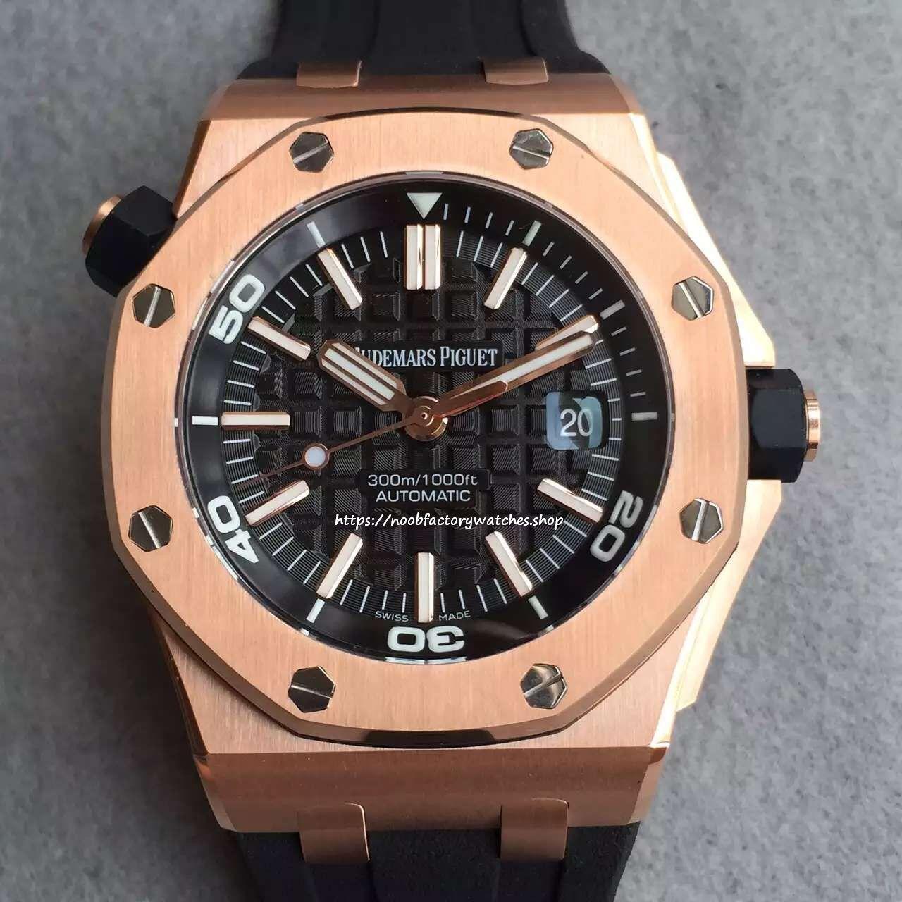 Audemars Piguet Royal Oak Offshore Diver 15703 Rose Gold The N Factory